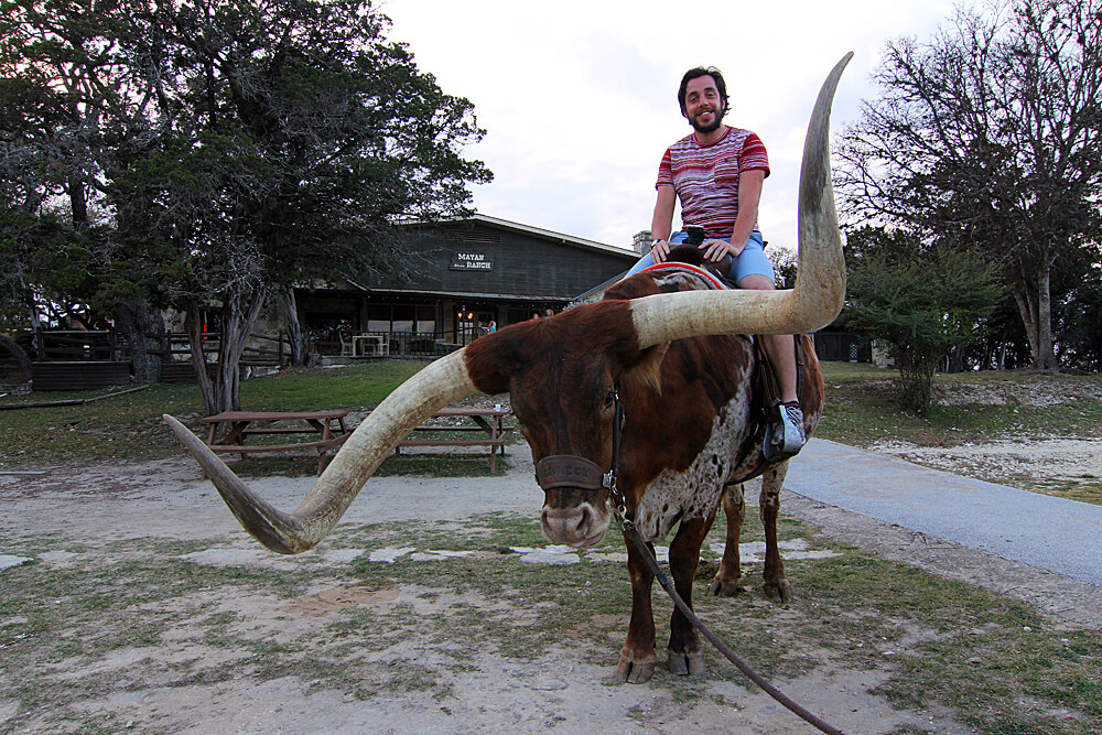longhorn-riding-mayan-dude-ranch-bandera-texas