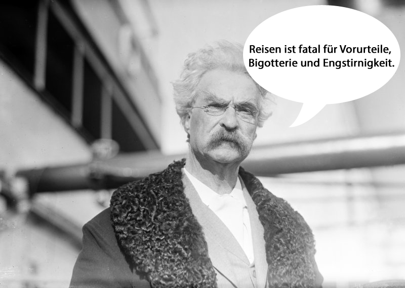 sprüche reisen Mark Twain