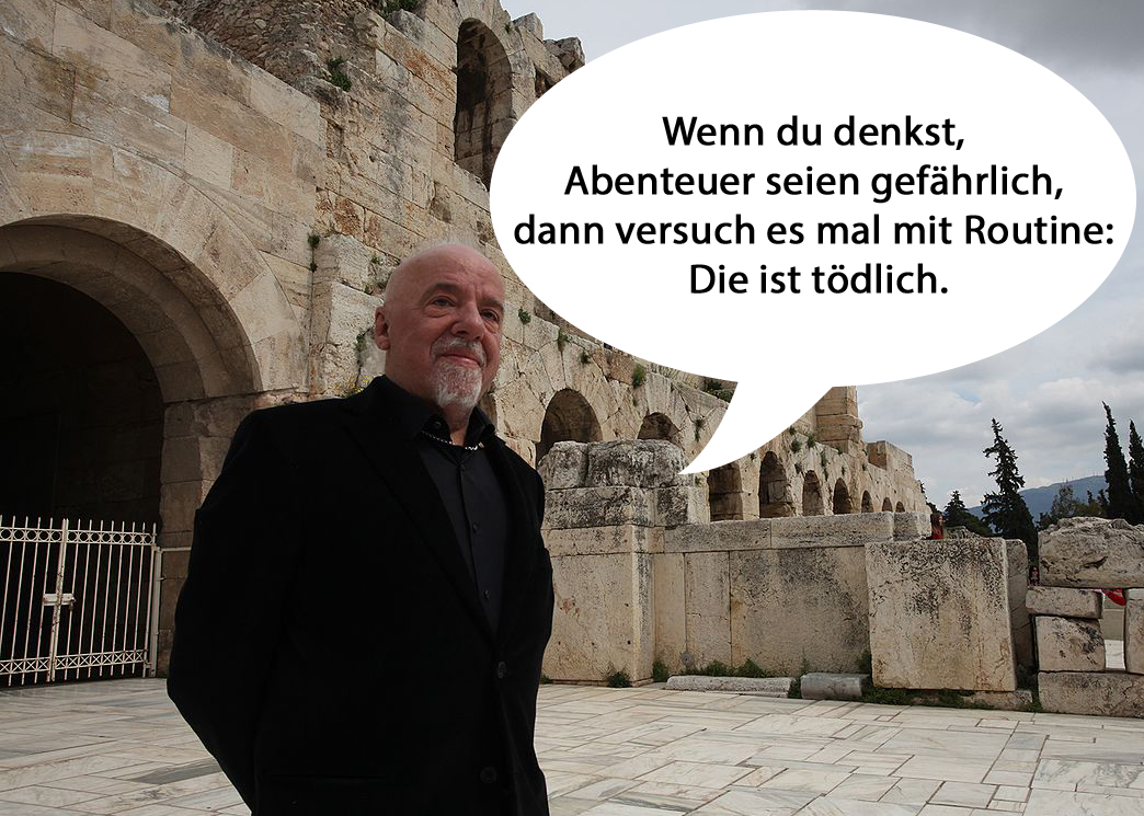sprüche reisen Paulo Coelho