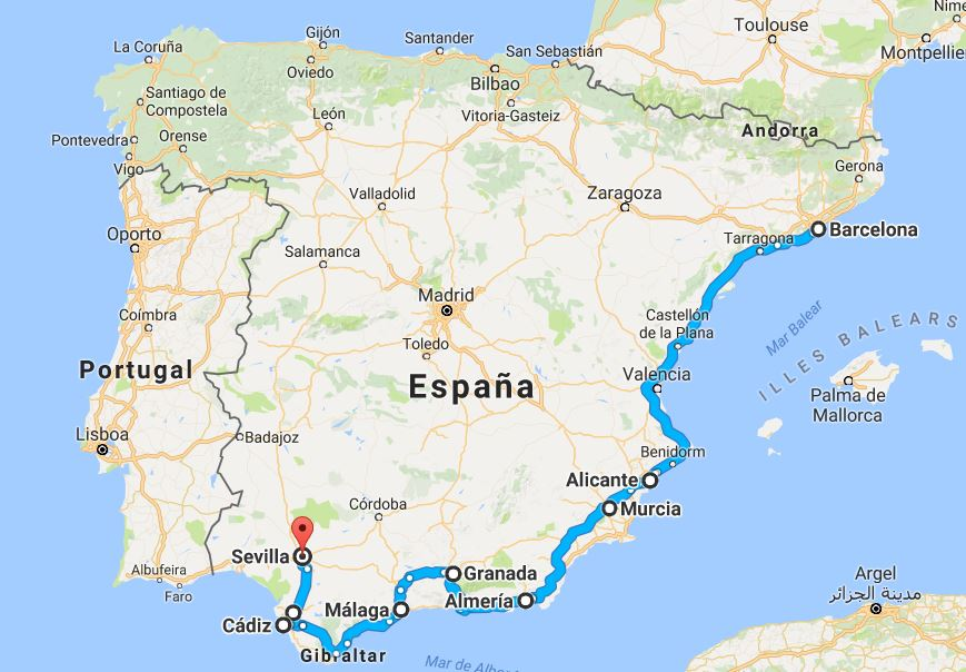 Roadtrip europa spanien
