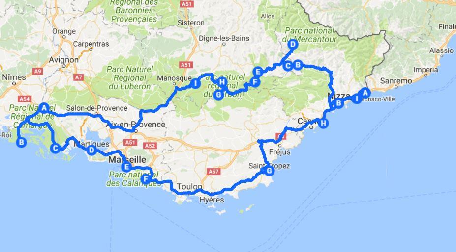 frankreich reiseroute provence