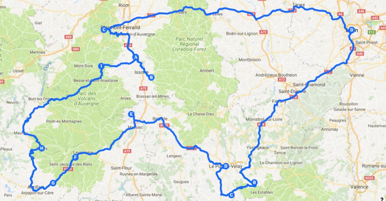 frankreich reiseroute auvergne